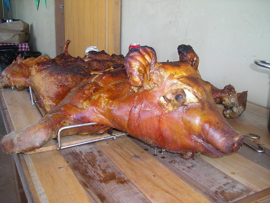 how to make a pig rotisserie