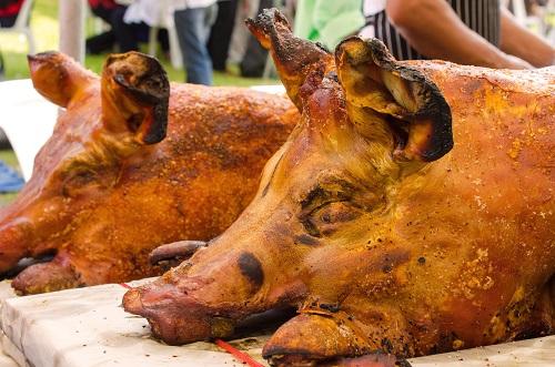 full roasted pig